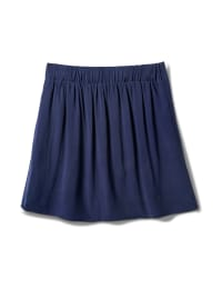 Pull On Skort with Back Elastic - Navy - Back