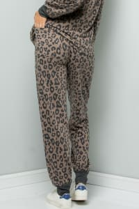 Leopard Print Pants - Brown - Back