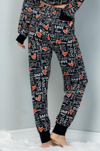 Pre Order Heart x Love Elastic Casual Pants - Black - Back