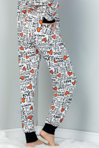Pre Order Heart x Love Elastic Casual Pants - Ivory - Back