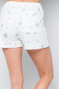 Pre Order Star Print Jersey shorts - Blue - Back