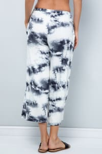 Pre Order Cropped Wide-Leg Pants - Ivory - Back