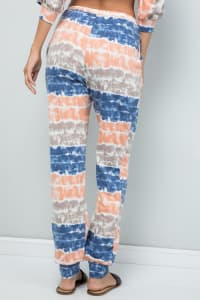 Tie Dye Pants W/ Pocket - Ink blue - Back
