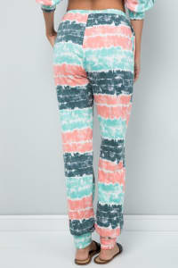 Tie Dye Pants W/ Pocket - Mint - Back