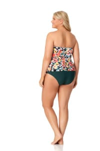 Anne Cole® Sunset Floral Twist Front Tankini Swimsuit Top - Multi - Back