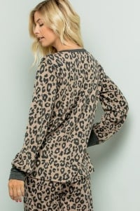 Leopard Weekend Top - Mocha - Back