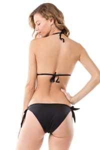 Pre Order Color-Changing Sequin Bikini - Black - Back