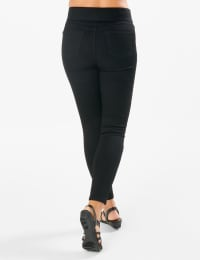 Westport Signature High Rise Pull On Jegging Jean - Black - Back