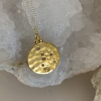 Pre Order Cancer Star Sign Zodiac Constellation Necklace In Gold Plated Sterling Silver - Gold plated / Sterling silver - Back