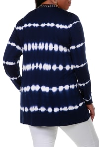 Tie Dye Cardigan - Navy/Gold - Back