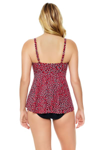 Pre-Order Penbrooke Baby Spice Flounce Tankini Swimsuit Top - Brick - Back