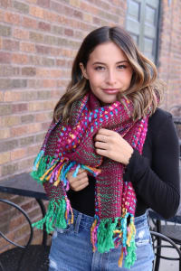 Pre-Order Expression of the Brights Neck Scarf - Pink - Back