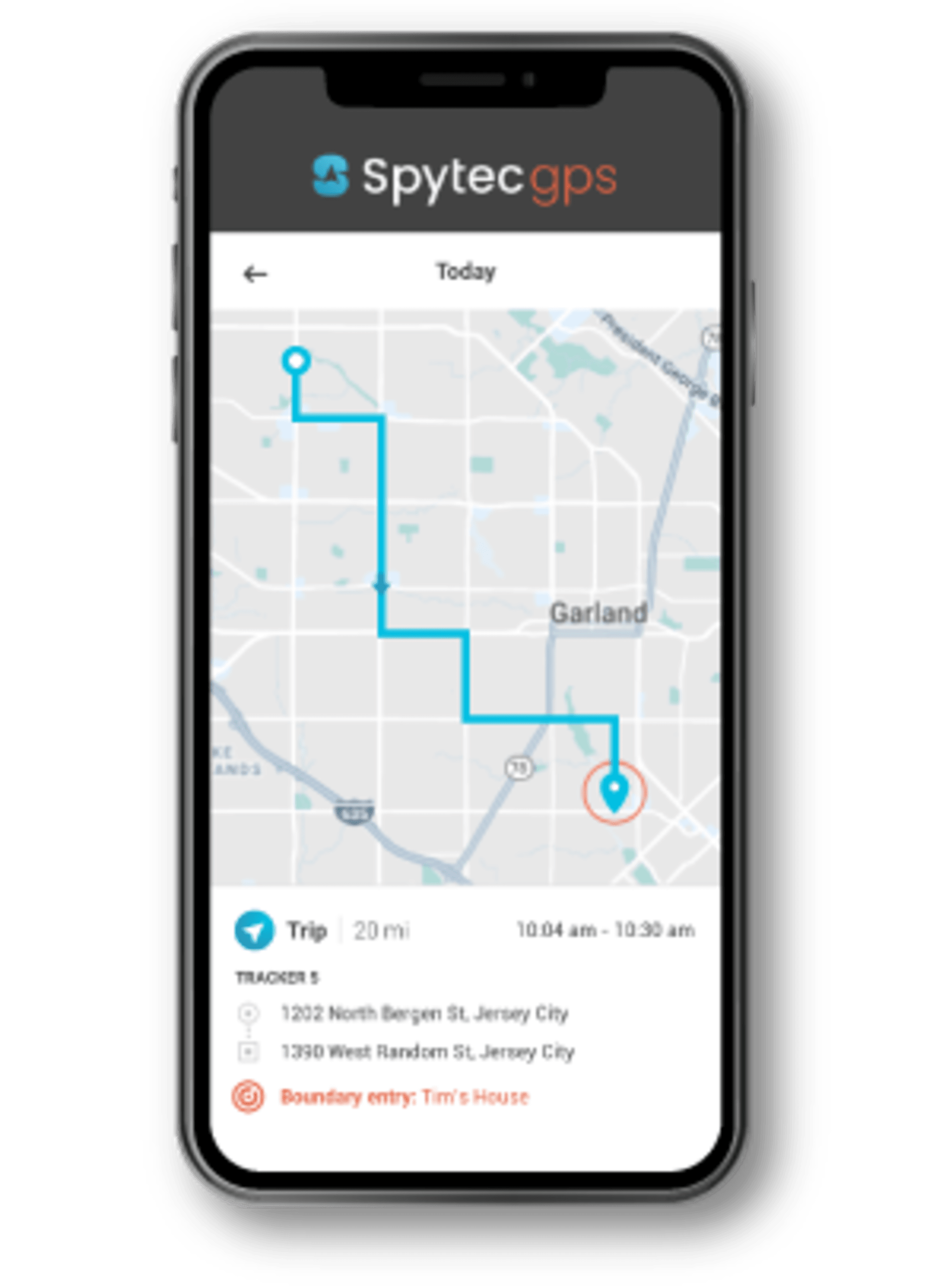The Spytec GPS Tracking App