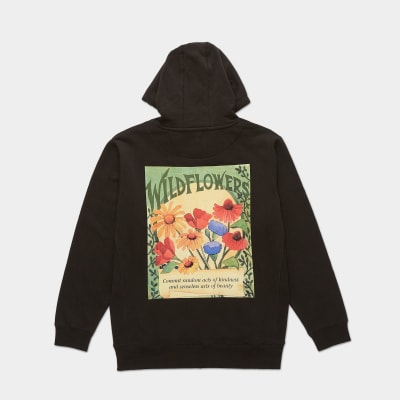 Wildflowers Hoodie – Black alternative image