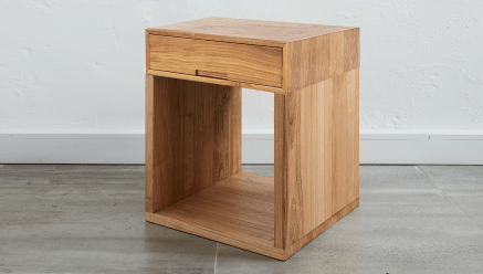 Bob Bedside Table High Square
