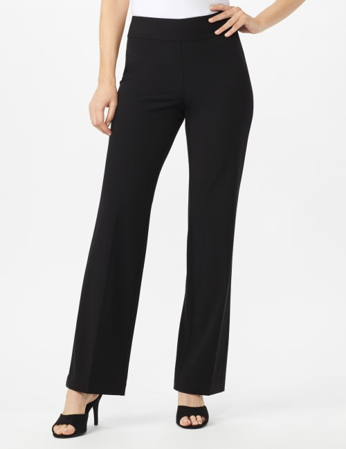 Secret Agent Tummy Control Pants - Average Length - Black - Front