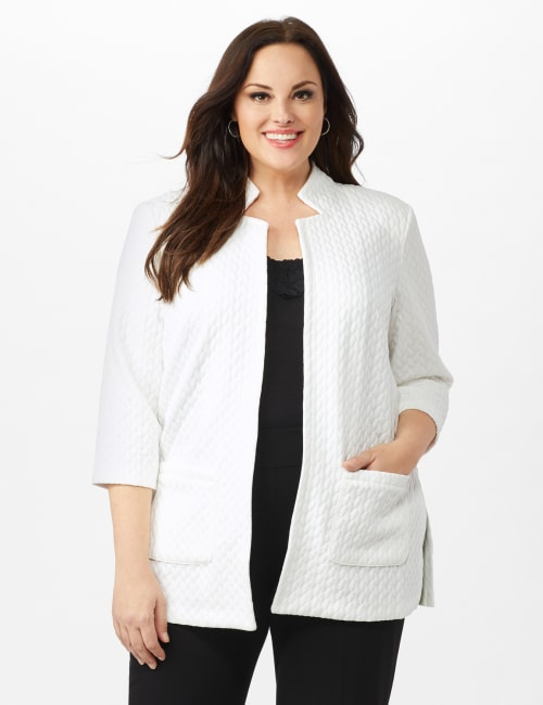 Quilted Jacquard Topper - Plus - Sugar Swizzle - Front