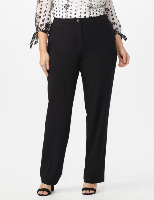 Pre Order Secret Agent Trouser with Cateye Pockets & Zipper- Short Length - Black - Front
