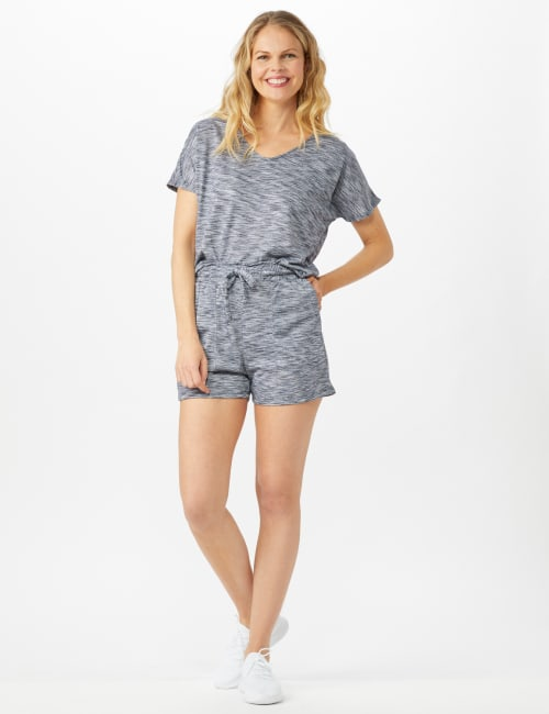 Space Dye French Terry Short - Indigo - Front