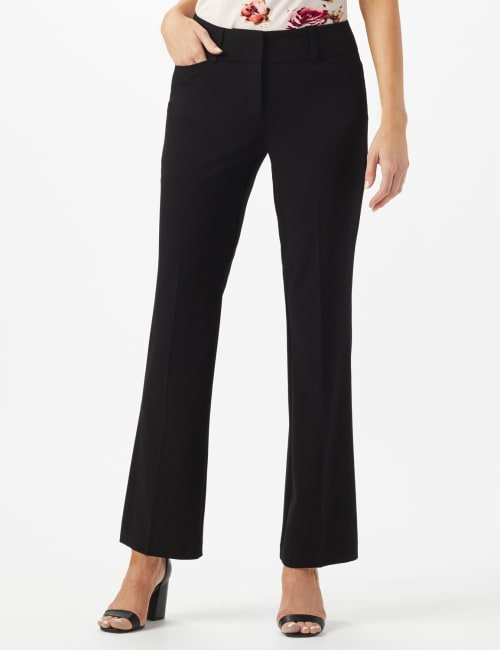SECRET AGENT TROUSER WITH CATEYE POCKET & ZIP - Black - Front