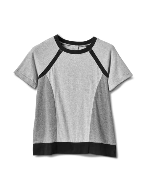 Color Block Knit Top - Misses - Grey/Black - Front