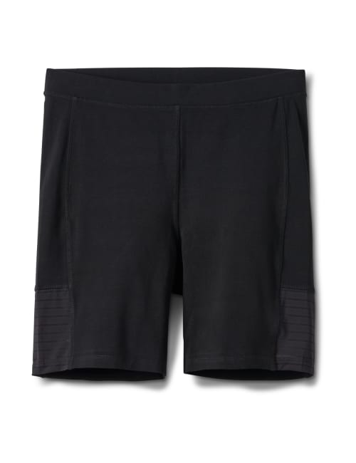 Pima Cotton Bike Short - Plus - Black - Front