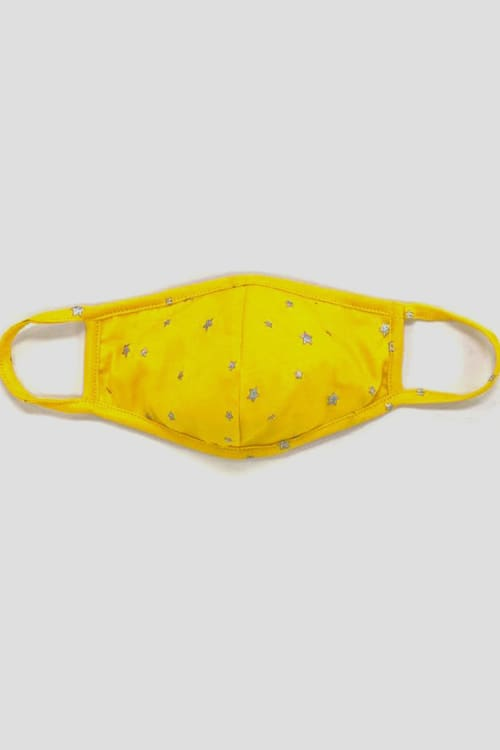PRE ORDER Silver Star Fashion Mask - Yellow - Front