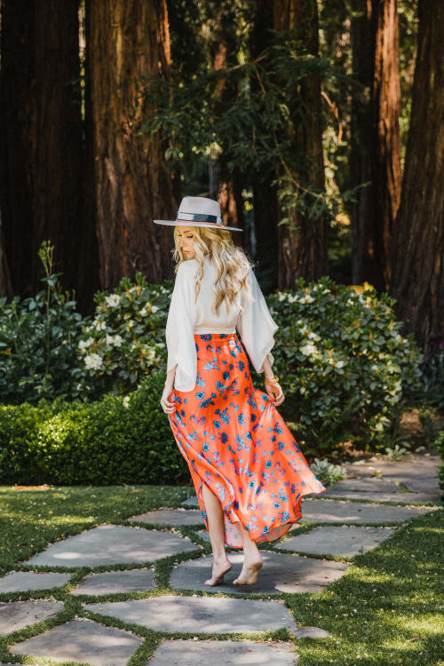 Pre-Order Maxi Skirt in Aix - Multi - Front