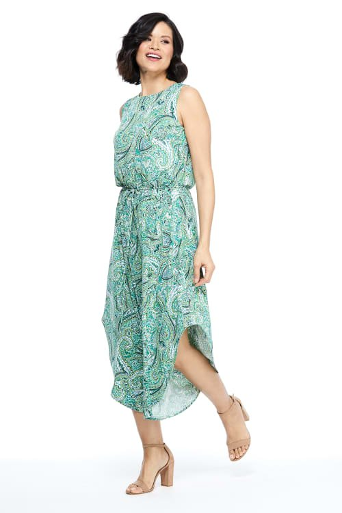 Lalita Paisley Jumpsuit - SWGreen - Front