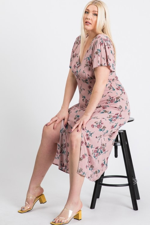Sunkissed Floral Dress - Pink - Front