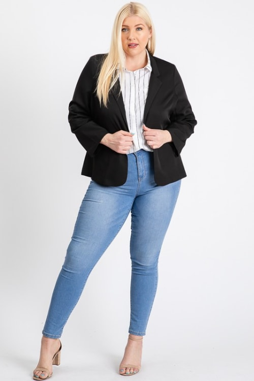 That Formal Look Blazer - Black - Front
