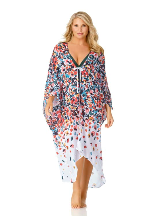 Anne Cole® Sunset Floral Maxi Swimsuit Cover-Up - Multi - Front