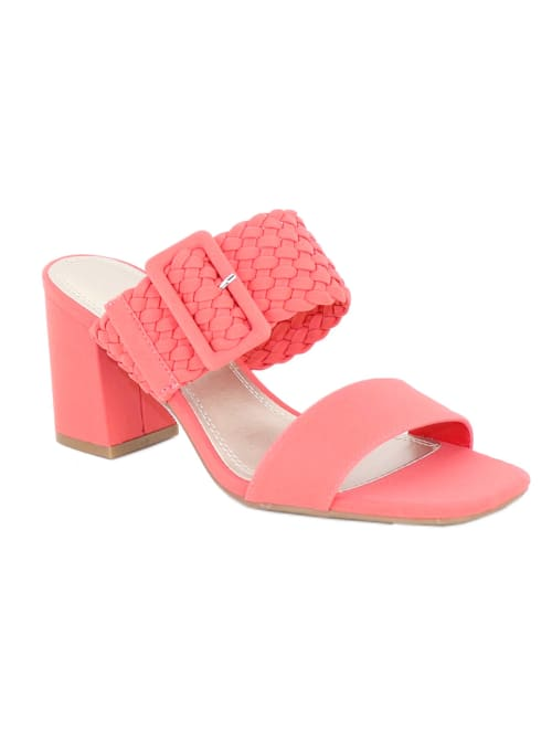Impo Vlossom Block Heel Sandals - Hot Coral - Front