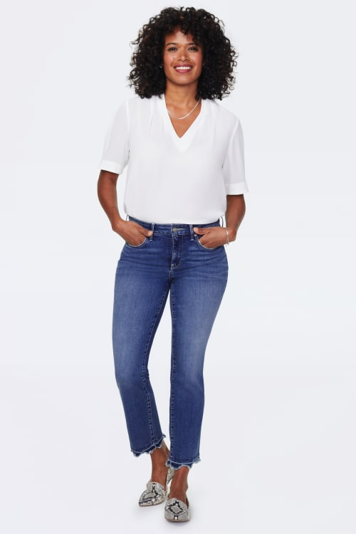 PRE ORDER NYDJ Marilyn Ankle Jeans with Frayed Hem - ALTON CHEW HEM - Front