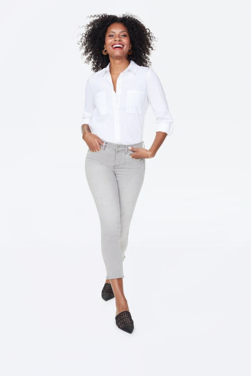 PRE ORDER NYDJ Sheri Ankle Jeans with Mock Fly & Slits - Gale - Front