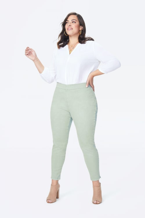 PRE ORDER NYDJ Pull On Skinny Ankle Jeans with Slit Hem - Desert Willow - Front