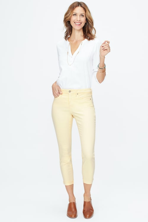 PRE ORDER NYDJ Ami Skinny Cuff Ankle Jeans - Marigold - Front