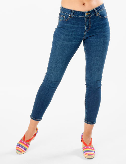 Westport Signature 5 Pocket Skinny Jean - Dark Wash - Front