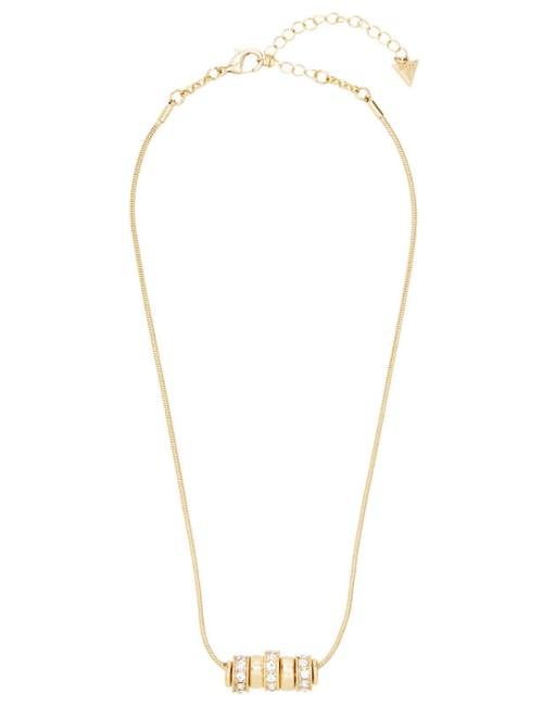Ring Charm Drop Necklace - Gold - Front