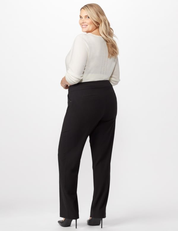 Secret Agent Tummy Control Pants Cateye Rivet - Tall Length - Black - Back