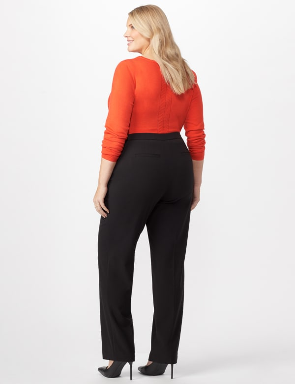 Secret Agent Trouser with Cateye Pocket and Zipper - Black - Back