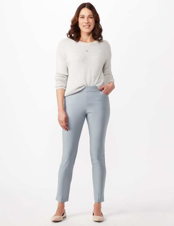 Superstretch Luxe Pull On Pants - Antique Blue - Front