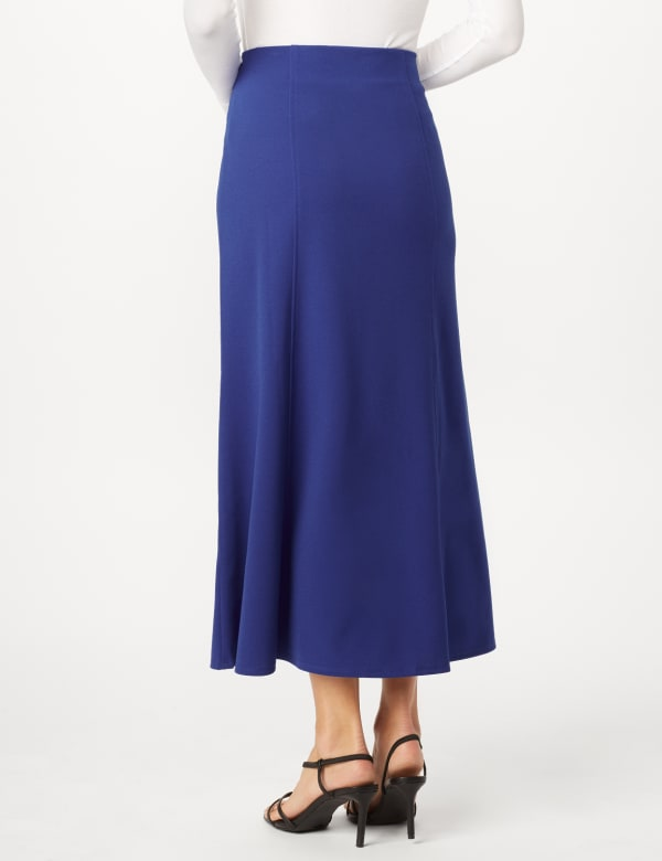 Long Flippy Skirt - Royal - Back
