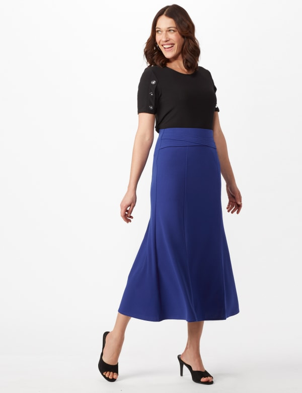 Long Flippy Skirt - Royal - Front