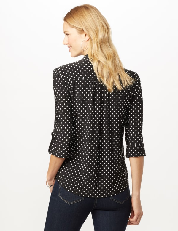 Dotted Popover - Black/White - Back