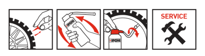 Directions for use S.O.S TYRE puncture-proof spray ipone