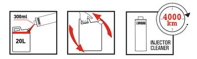 Instructions injector cleaner nettoyant injecteurs moto ipone