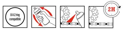 Instructions  X-TREM CHAIN ROAD graisse de chaine route ipone