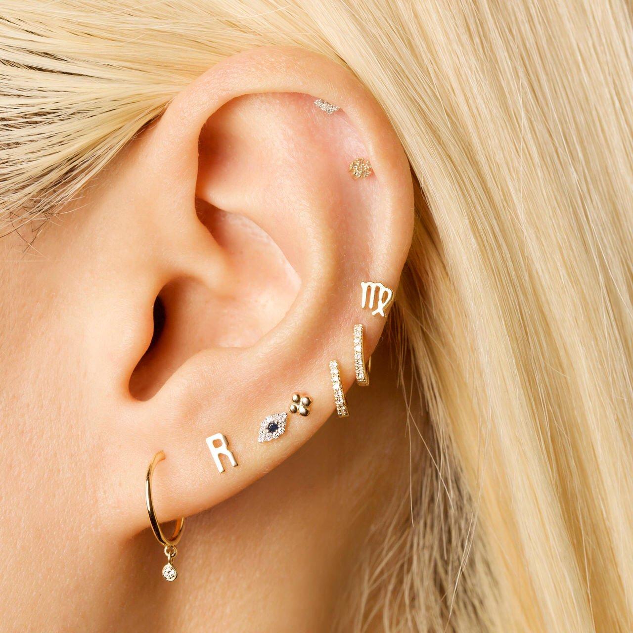 Letter S Earrings,Letter Earrings Gold Initial S Earrings Initial S Earrings Personalized Jewelry,Initial Jewelry Minimalist Earrings