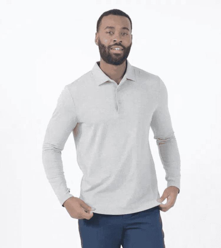Sun Protective Long Sleeve Polo Shirt For Men UPF50+ | UV Protection